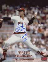 """Bill Lee Signed Red Sox 8x10 Photo Inscribed """"Earth 2010"""" (YSMS COA) at PristineAuction.com"""