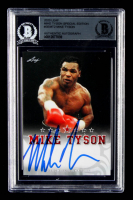 Mike Tyson Signed 2020 Leaf Mike Tyson Special Edition Autographs #SEMT2 (BGS Encapsulated) at PristineAuction.com
