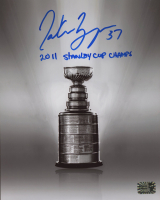 """Patrice Bergeron Signed Bruins 8x10 Photo Inscribed """"2011 Stanley Cup Champs"""" (Bergeron COA) at PristineAuction.com"""