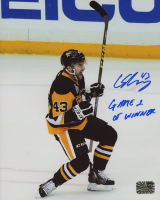 """Conor Sheary Signed Penguins 8x10 Photo Inscribed """"Game 2 Winner"""" (Sheary COA) at PristineAuction.com"""