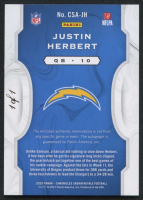 Justin Herbert 2020 Chronicles Crown Royale Silhouettes RC NFL Shield Autograph 1/1 at PristineAuction.com