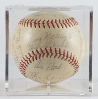 1962 Pirates ONL Baseball Team-Signed by (26) with Bill Mazeroski with Display Case (Beckett LOA & Marshall LOA) at PristineAuction.com