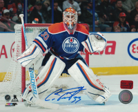 Cam Talbot Signed Oilers 8x10 Photo (Talbot COA) at PristineAuction.com