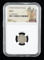 Ferdinand II (1526-1564) Hungary Denar Medieval Silver Coin (NGC MS62) at PristineAuction.com