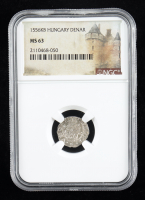 Ferdinand II (1526-1564) Hungary Denar Medieval Silver Coin (NGC MS63) at PristineAuction.com