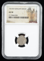 Ferdinand II (1526-1564) Hungary Denar Medieval Silver Coin (NGC AU58) at PristineAuction.com
