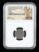 (1200-1300) France Besancon Denier Medieval Silver Coin (NGC VF25) at PristineAuction.com
