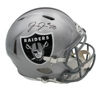 Josh Jacobs Signed Raiders Full-Size Authentic On-Field Speed Helmet (Radtke COA) at PristineAuction.com