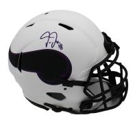 Justin Jefferson Signed Vikings Full-Size Authentic On-Field Lunar Eclipse Alternate Speed Helmet (Radtke COA) at PristineAuction.com