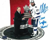 """Victor Hedman Signed Lightning 8x10 Photo Inscribed """"Conn Smythe Winner"""" (Hedman COA) at PristineAuction.com"""