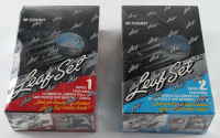 Set of (2) 1991 Leaf Series 1 & 2 Baseball Boxes with (36) Packs Each (See Description) at PristineAuction.com