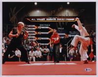"Ralph Macchio & William Zabka Signed ""The Karate Kid"" 11x14 Photo Inscribed ""Wax On"" (Beckett COA) at PristineAuction.com"
