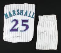 Jim Marshall Signed Set of Game-Used Diamondbacks Jersey & Pants (Marshall LOA) at PristineAuction.com
