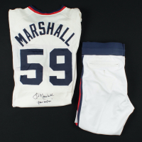 """Jim Marshall Signed Set of Game-Used White Sox Jersey & Pants Inscribed """"Game Uniform"""" (Marshall LOA) at PristineAuction.com"""