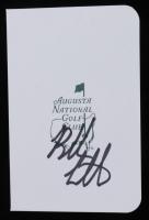 Bubba Watson Signed Augusta National Golf Club Score Card (JSA COA) at PristineAuction.com