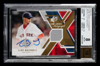 Clay Buchholz 2009 SPx Game Jersey Autographs #GJACL (BGS 8) at PristineAuction.com