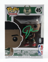 Giannis Antetokounmpo Signed Bucks #45 Funko Pop! Vinyl Figure (Beckett COA) (See Description) at PristineAuction.com