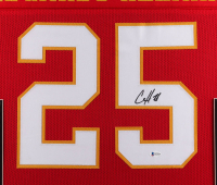 Clyde Edwards-Helaire Signed 35x43 Custom Framed Jersey Display (Beckett COA) at PristineAuction.com
