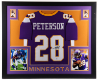 Adrian Peterson Signed 35x43 Custom Framed Jersey Display (Beckett COA) (See Description) at PristineAuction.com