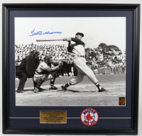 Ted Williams Signed Red Sox 22x23 Custom Framed Photo Display with Red Sox Patch (Ted Williams COA) at PristineAuction.com