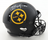 JuJu Smith-Schuster Signed Steelers Full-Size Authentic On-Field Eclipse Alternate Speed Helmet (Beckett Hologram) at PristineAuction.com