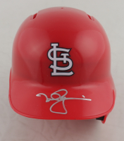 Mark McGwire Signed Cardinals Mini-Helmet With Display Stand (Radtke COA) at PristineAuction.com
