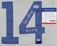 "Ernie Banks Signed Jersey Inscribed ""HOF 77"" (PSA COA) at PristineAuction.com"