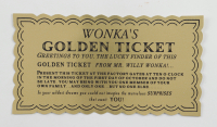 """Julie Dawn Cole & Denise Nickerson Signed """"Willy Wonka & The Chocolate Factory"""" Replica Wonka Bar Inscribed """"Violet"""" & """"Veruca"""" (Beckett COA) at PristineAuction.com"""