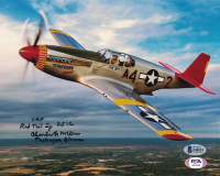 """Charles McGee Signed 8x10 Photo Inscribed """"CAF Red Tail"""" & """"Tuskegee Airman"""" (Beckett COA) at PristineAuction.com"""