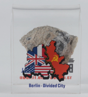 Berlin Wall Fragment with Display Stand (Pawlowski COA) at PristineAuction.com
