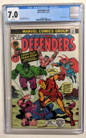 """1973 """"The Defenders"""" Issue #9 Marvel Comic Book (CGC 7.0) at PristineAuction.com"""