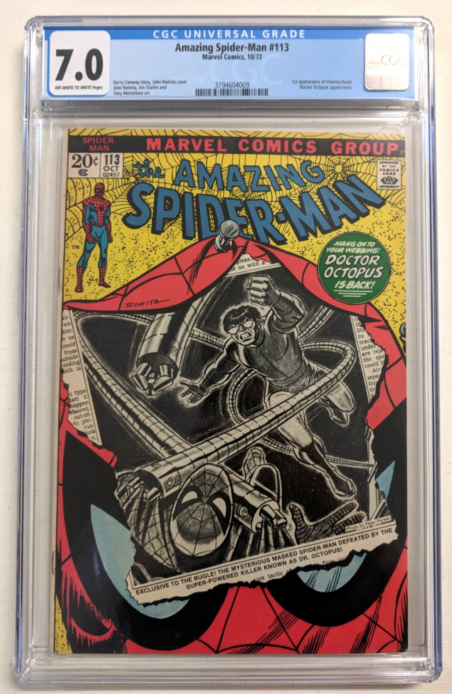 """1972 """"The Amazing Spider-Man"""" Issue #113 Marvel Comic Book (CGC 7.0) at PristineAuction.com"""