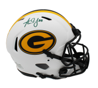 Aaron Jones Signed Packers Full-Size Authentic On-Field Lunar Eclipse Alternate Speed Helmet (Radtke COA) at PristineAuction.com