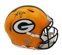 Aaron Jones Signed Packers Full-Size Speed Helmet (Radtke COA) at PristineAuction.com
