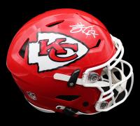 Travis Kelce Signed Chiefs Full-Size Authentic On-Field SpeedFlex Helmet (Radtke COA) at PristineAuction.com