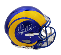 Kurt Warner Signed Rams Full-Size Authentic On-Field Speed Helmet (Beckett COA) at PristineAuction.com