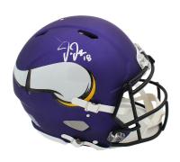 Justin Jefferson Signed Vikings Full-Size Authentic On-Field Speed Helmet (Radtke COA) at PristineAuction.com