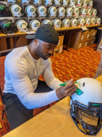 Curtis Martin Signed Jets Full-Size Authentic On-Field Lunar Eclipse Alternate Speed Helmet (Radtke COA) at PristineAuction.com