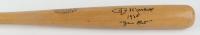 "Jim Marshall Signed Game-Used 1960 Louisville Slugger Player Model Baseball Bat Inscribed ""1960 Game Bat"" (Marshall LOA) at PristineAuction.com"