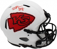 Travis Kelce Signed Chiefs Full-Size Authentic On-Field Lunar Eclipse Alternate Speed Helmet (Radtke COA) at PristineAuction.com