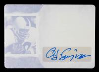 O.J. Simpson 2020 ITG Used Sports Autographs Printing Plates Magenta #GUAOJ1 at PristineAuction.com