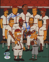 """Wade Boggs & Jose Canseco Signed """"The Simpsons"""" 8x10 Photo Inscribed """"HOF 05"""" (Beckett COA) at PristineAuction.com"""