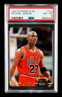 Michael Jordan 1992-93 Stadium Club #210 MC (PSA 8) at PristineAuction.com