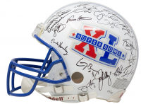 Super Bowl MVP's Full-Size Authentic On-Field Helmet Signed by (42) with Tom Brady, Bart Starr, Len Dawson, Joe Namath, Aaron Rodgers (Beckett LOA) at PristineAuction.com