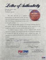 North Carolina Tar Heels Basketball Signed by (12) with Michael Jordan, Sam Perkins, Curtis Hunter, Cliff Morris, Buzz Peterson (PSA LOA & JSA LOA) at PristineAuction.com