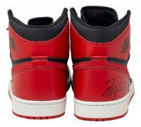 Michael Jordan Signed Air Jordan 1 Retro Basketball Shoes (UDA COA) at PristineAuction.com
