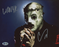 """Corey Taylor Signed """"Slipknot"""" 8x10 Photo Inscribed """"WANYK"""" (Beckett COA) (See Description) at PristineAuction.com"""