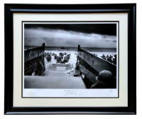 """World War II """"D-Day"""" 23x8 Custom Framed Giclee Display at PristineAuction.com"""