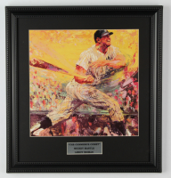 """Leroy Neiman """"Mickey Mantle: The Commerce Comet"""" 16x16 Custom Framed Vintage Print Display at PristineAuction.com"""