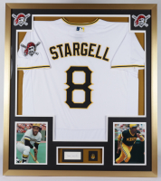 Willie Stargell Signed Pirates 32x36 Custom Framed Index Card Display with HOF Lapel Pin (BAS Encapsulated) at PristineAuction.com